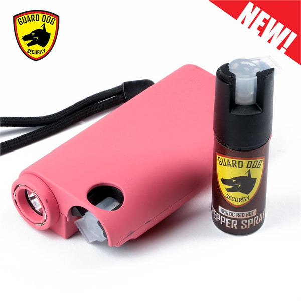 Pink Olympian World's Only All-In-One Stun Gun - Pepper Spray - Flashlight