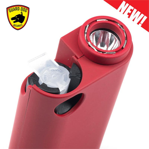 Red Olympian World's Only All-In-One Stun Gun - Pepper Spray - Flashlight