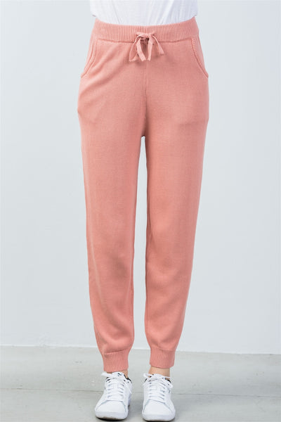 Rib-Knit Lounge Joggers Pants