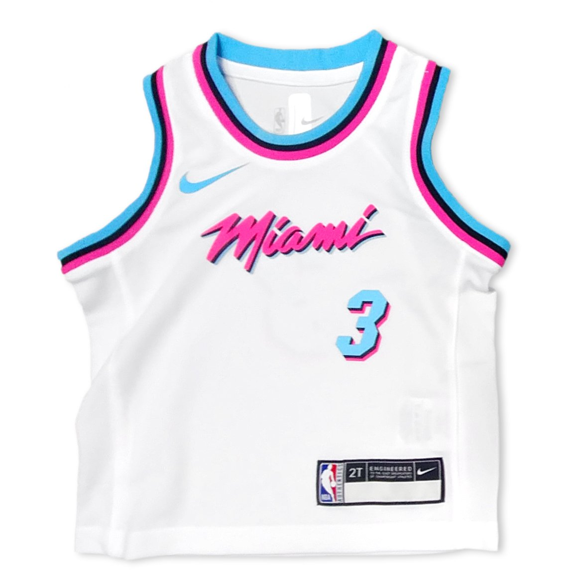 hot sales 7be41 db5a7 Nike Miami HEAT Dwyane Wade Toddler Vice uniform City Edition Replica