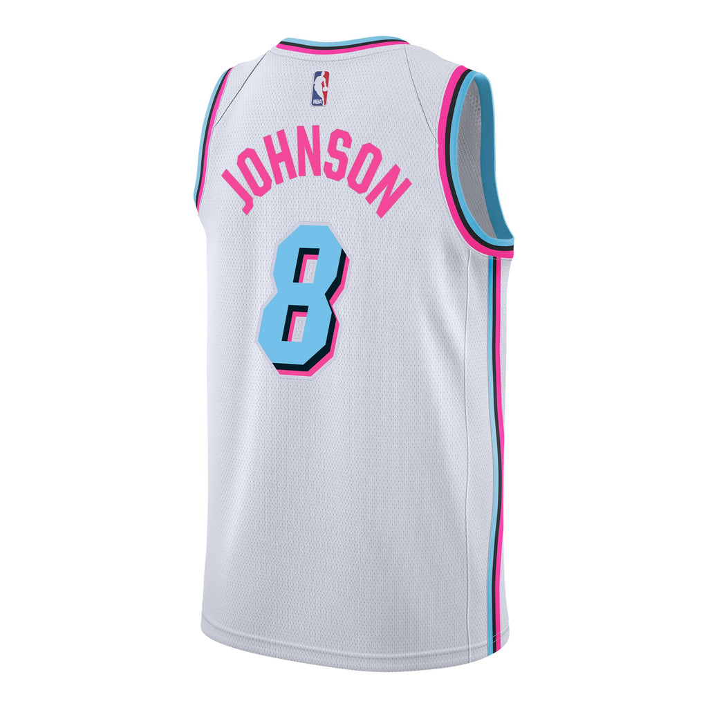 timeless design 99d92 b9819 Tyler Johnson Nike Miami HEAT Vice Uniform City Edition Swingman Jersey