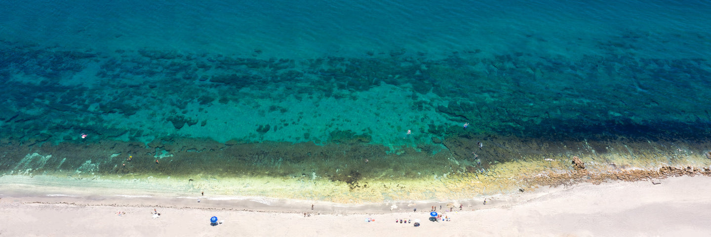 Coral Cove Park Blue Water Aerial Panoramic View - Canvas Print