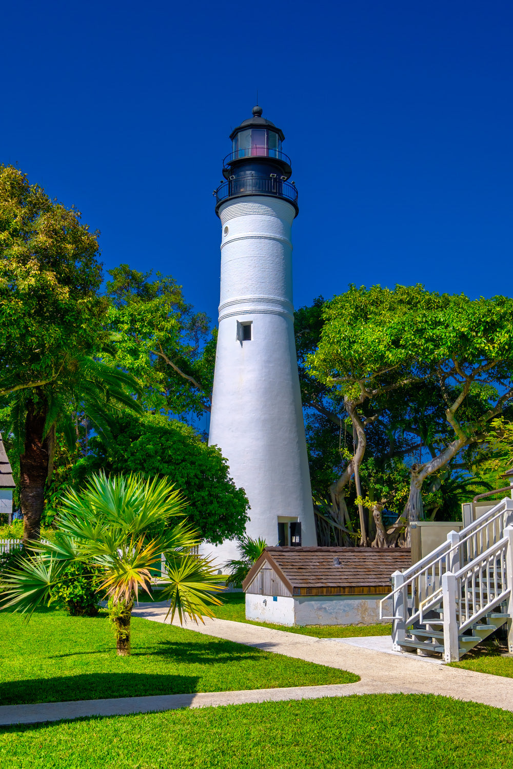 Key West Lighthouse Clear Blue Sky Standing Tall