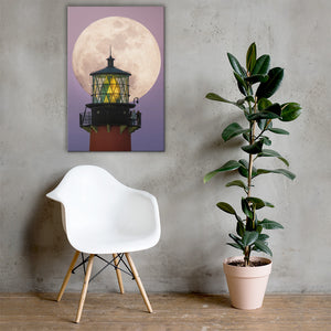 Lighthouse Big Moon - Canvas