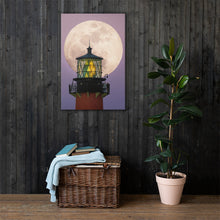 Load image into Gallery viewer, Lighthouse Big Moon - Canvas