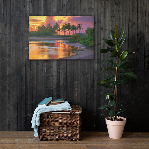 Dubois Lagoon Sunset Art - Canvas