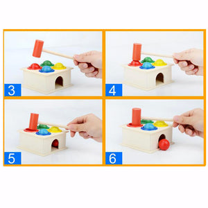 Hammer Wooden Toy Educational  Instrument Gift