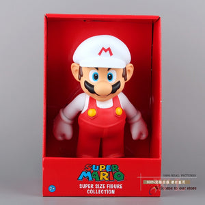 Super Mario Bros Mario with White Hat Action Figure Collectable Toy 25cm New in Retail Box