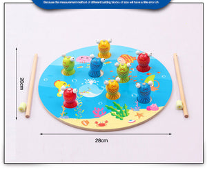 3D Wooden  Fish Magnetic Puzzle Educational Wooden Toy