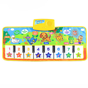 Touch Play Keyboard Musical Singing Gym Carpet Mat
