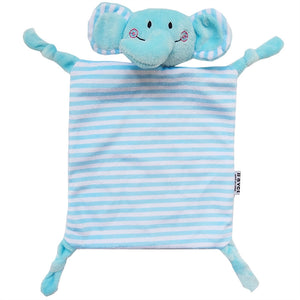 Teething Cloth Soft Square Striped Plush Snuggle Teether Blanket