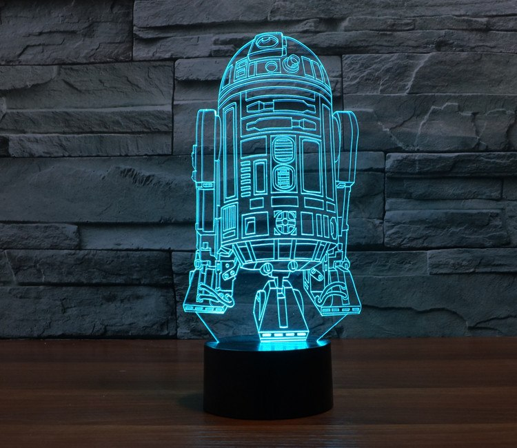 Colour changing 3D Bulbing Light Star Wars Fighting Boat LED Lamp