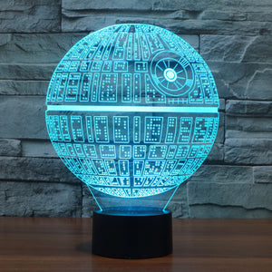 3D Bulbing Light Star Wars Death Star LED lamp