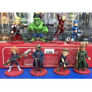 Avengers 2 Age of Ultron Thor, Hulk, Iron Man, Captain America, Black Widow, Hawkeye Loki 8pc/set