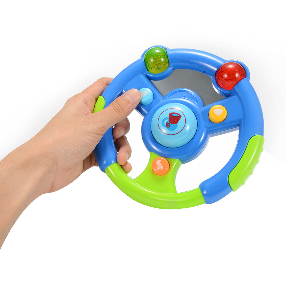 3-in-1 Musical Steering Wheel with Cell Phone and Key Set for Baby