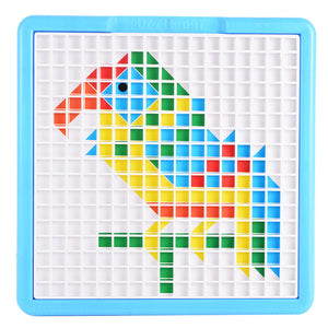 Mosaic Puzzle Pegboard Jigsaw Puzzle Game Puzzle Art Educationa Toys(490-Piece)