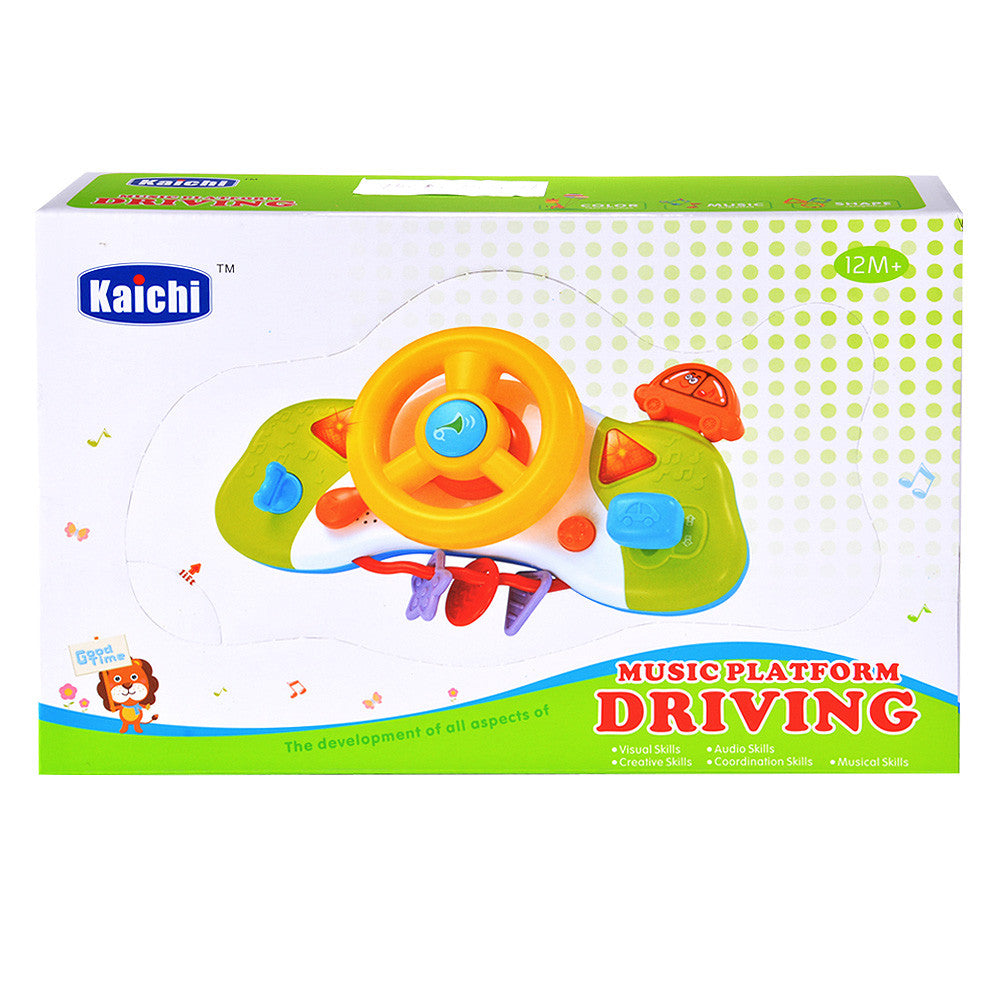 Steering Wheel Toys for Toddlers with Music and Light
