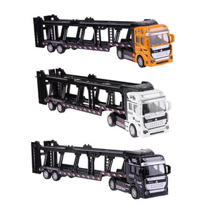 Pull Back Alloy Super Truck Vehicle Transporter Model Car