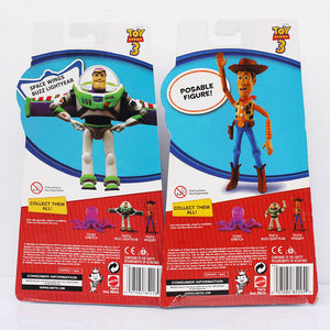 2Pc/Set Toy Story 3 Buzz Lightyear + Woody Sheriff  Action Figure Toy Model  18cm