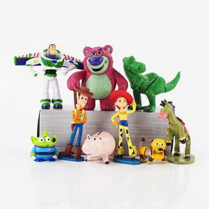 Toy Story 3 9/pc set Sheriff Woody, Buzz Lightyear, Jessie, Hamm, Rex, Slinky Dog Action Figure toys