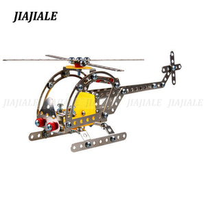 Metal Building Kit Helicopter