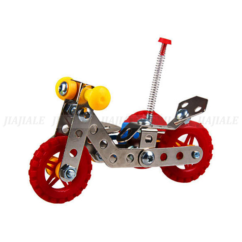 Metal Building Kit Side Motor Tricycle