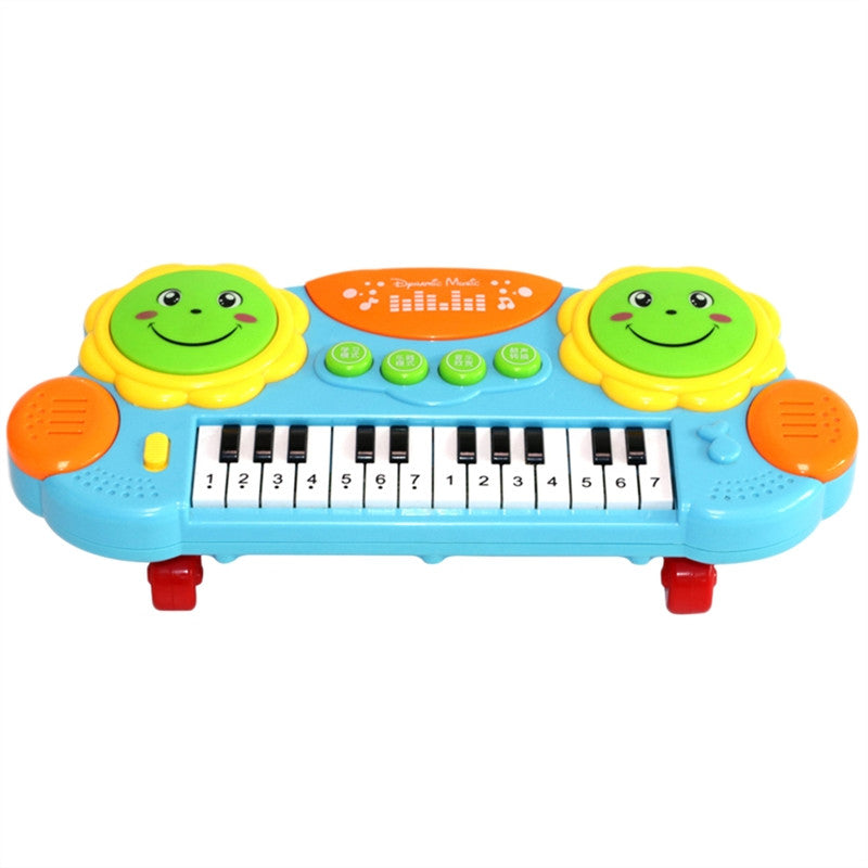 Multifunctional Keyboard Piano Music Toy with Light (Blue)
