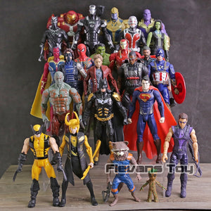 Avengers Thanos, Iron Man, Spiderman, Captain America, Black Panther, Black Widow Figures 24pc/set