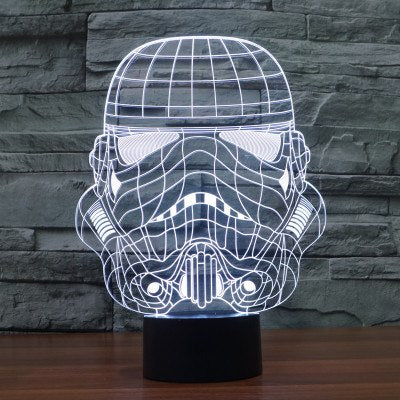 3D Bulbing Light Star Wars Soldier LED lamp
