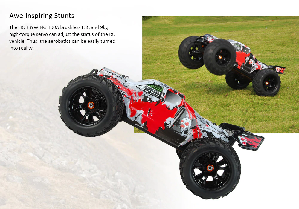 (Hot sale free shipping 50% discount)Latest model 1:10 4WD Off-road RC Racing Truck - RTR - Biubioo