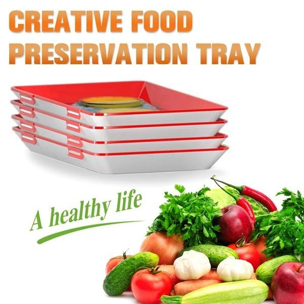 【Wholesale】Tray Food Plastic Preservation Tray Kitchen Tools Healthy Seal Storage Container