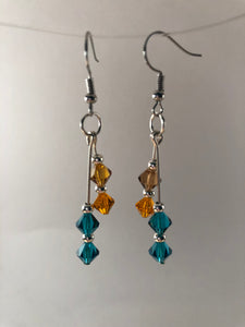 Austrian Glass Crystal Hanging Earrings - Three Colors Available - All The Small Things