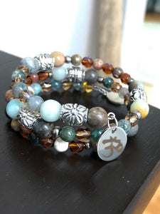 Boho Bracelet with Semi Precious and Glass Beads - All The Small Things