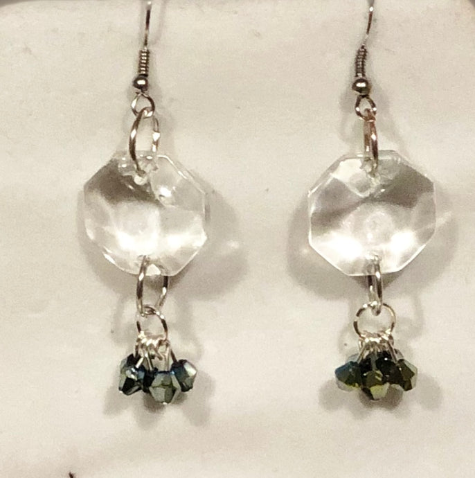 Vintage Crystal Earrings with Electroplated Glass Gems. Perfect Bridesmaid Gifts - All The Small Things