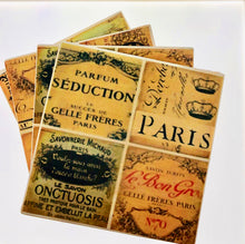 Load image into Gallery viewer, Set of 4 Old Paris Coasters - All The Small Things