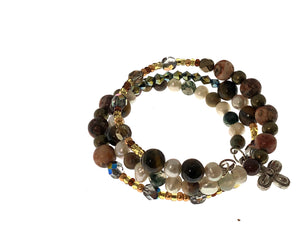 Tiger's Eye and Freshwater Pearl Bracelet - All The Small Things