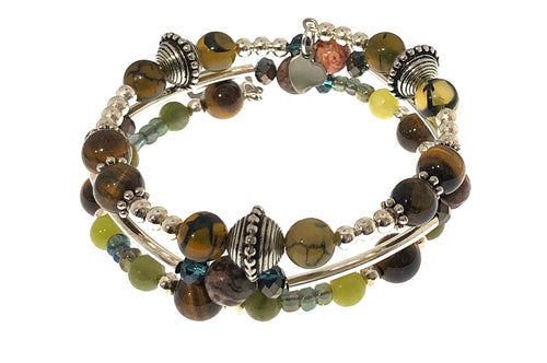 Boho Bracelet with Peace Sign ☮️☮️ - All The Small Things
