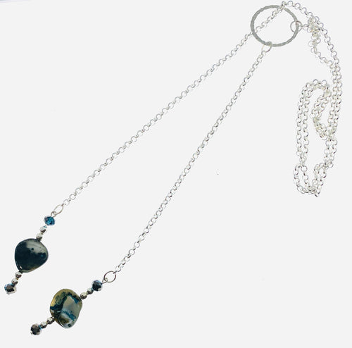 Adjustable Lariat Necklace with Abalone - All The Small Things