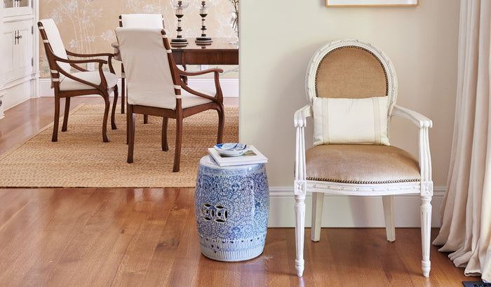 5 Ways to Use Our Chic Chinoiserie Ceramic Stools