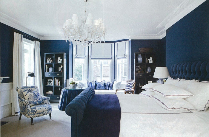 6 Gorgeous Hamptons Navy Bedrooms to Inspire