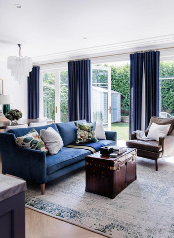Navy living room inspiration