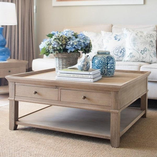 Oak Square Coffee Table
