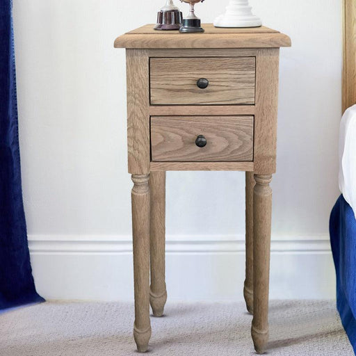 Oak Bedside Table - Small - Overstock