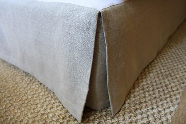 Natural Linen Buttoned Bedhead Package