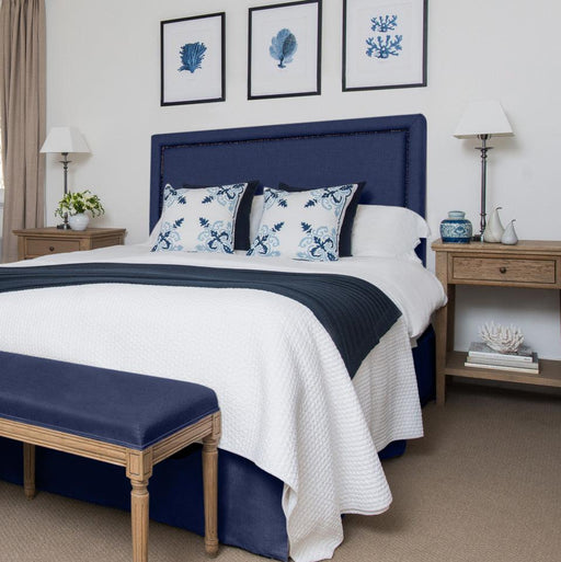 Navy Linen Studded Bedhead Package