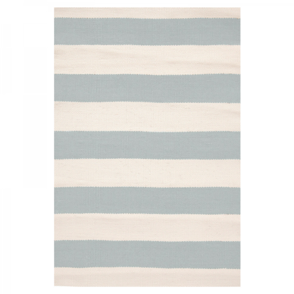 Indoor/Outdoor Rug - Catamaran Stripe Light Blue & Ivory