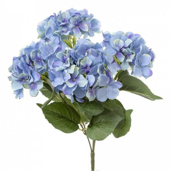 Faux Blue Hydrangea Bunch
