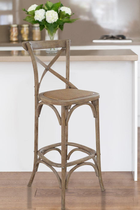 Awesome Oak Cross Back Bar Stool Caraccident5 Cool Chair Designs And Ideas Caraccident5Info