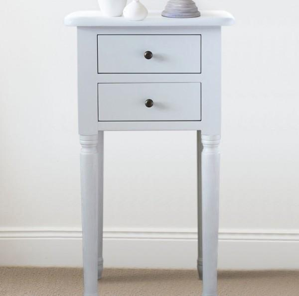 reputable site 0f018 7d599 White Bedside Table - Small