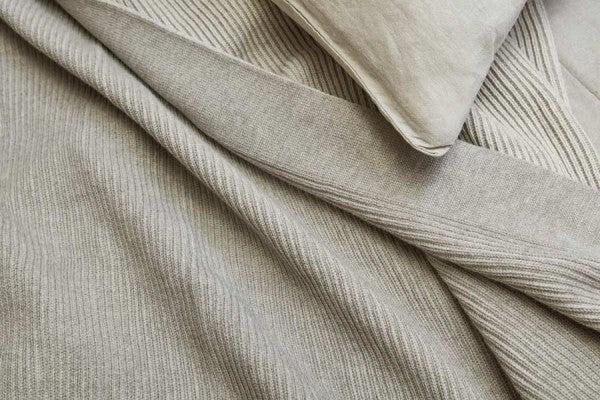 Bemboka Cotton Throw - Reversible Rib